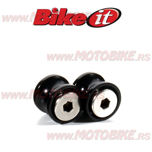 Klizaci stendera M6mm crni BIKE IT (PDSBOB6BK)